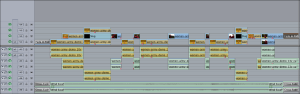 The timeline from a wushu scene from the film